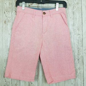 Nautica Boys Flat Front Red Shorts Size 12